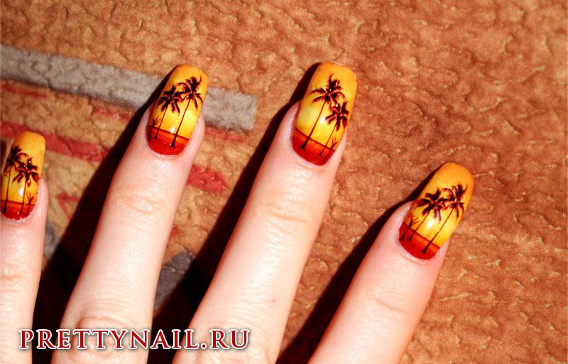 Рисунки на ногтях для отдыха