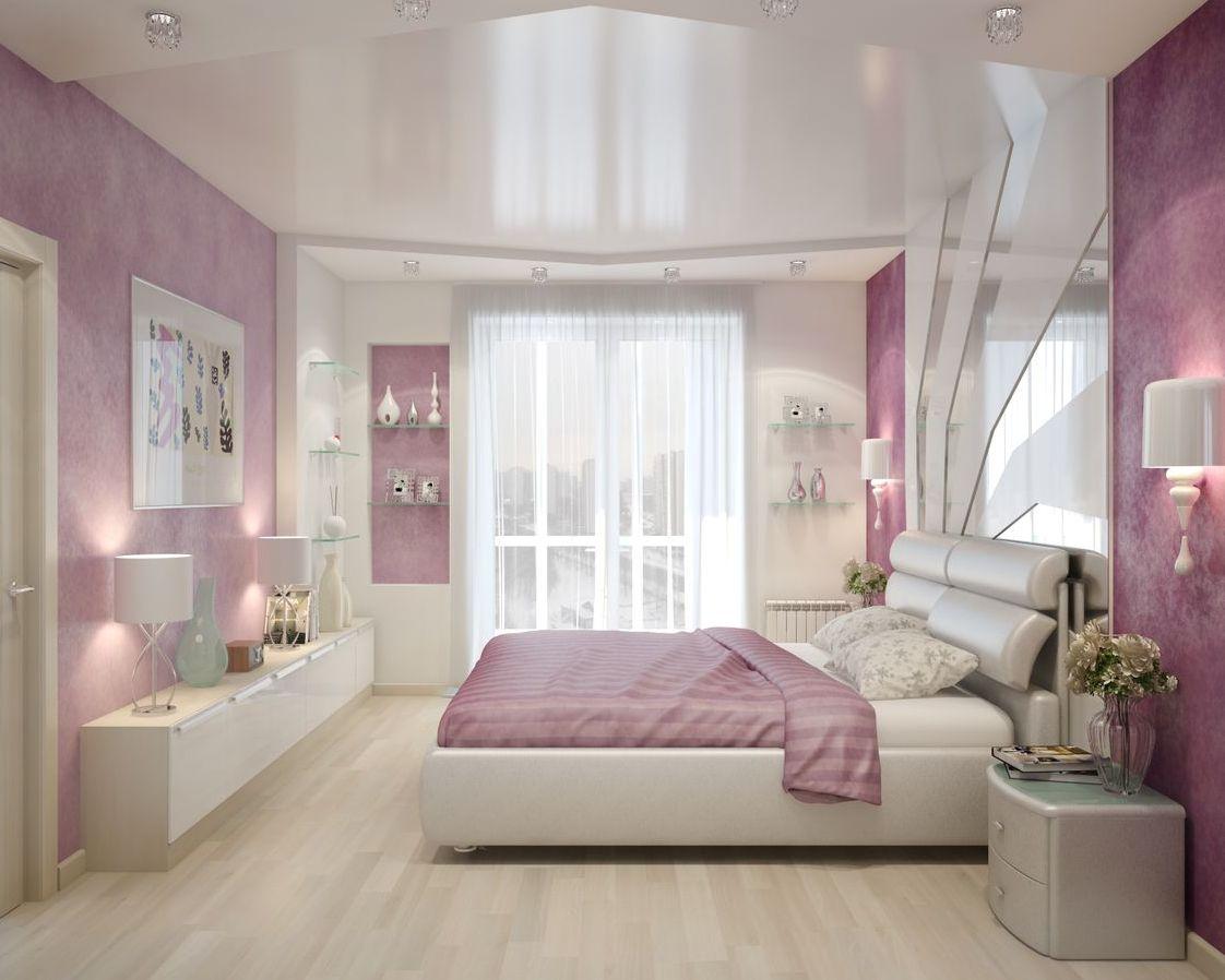 Интерьеры натяжных потолков фото в спальню