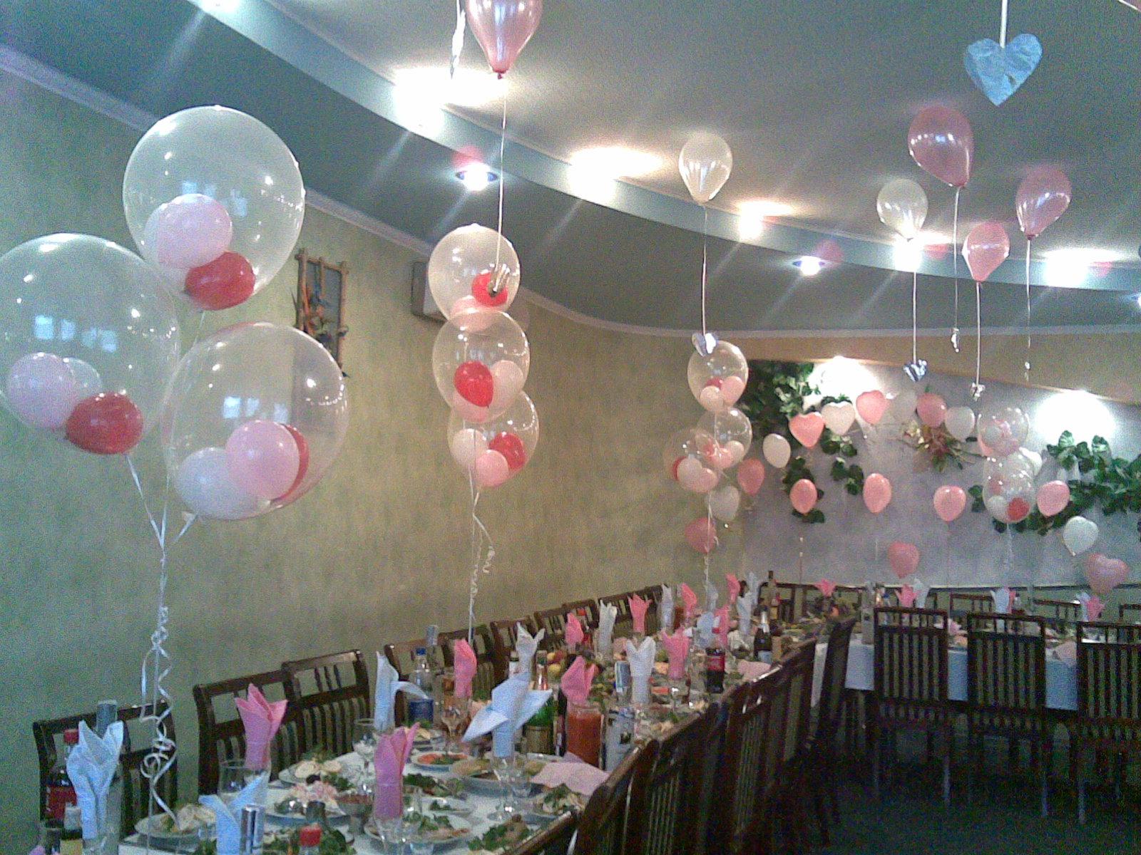 Украшения из шаров свадебного зала своими руками 16