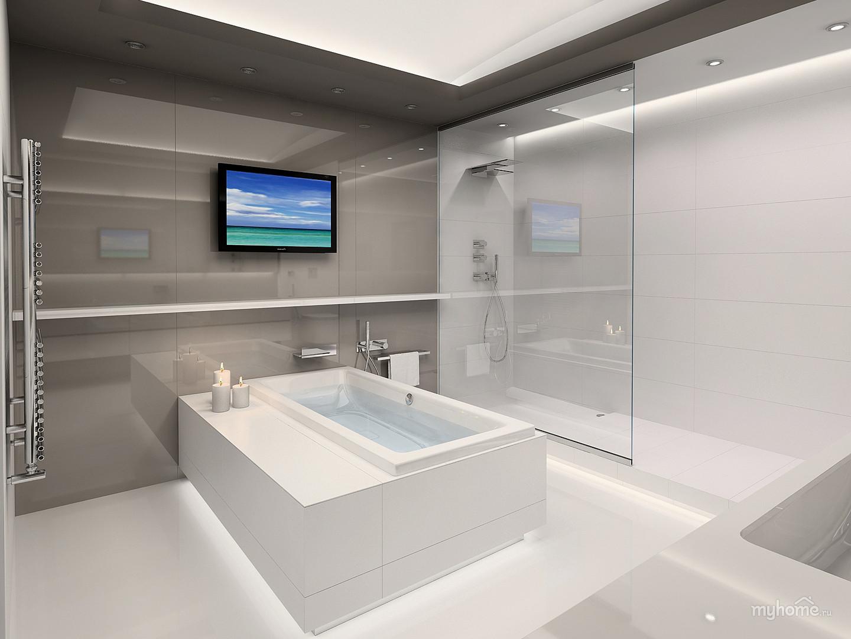 Интерьер ванной в минимализме