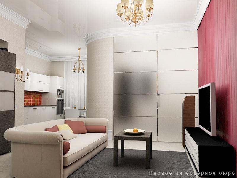 Как сделать спальню и гостиную в однокомнатной квартире