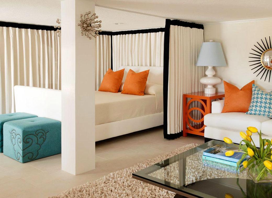 Как сделать спальню и гостиную в одной комнате 18 метров в хрущевке