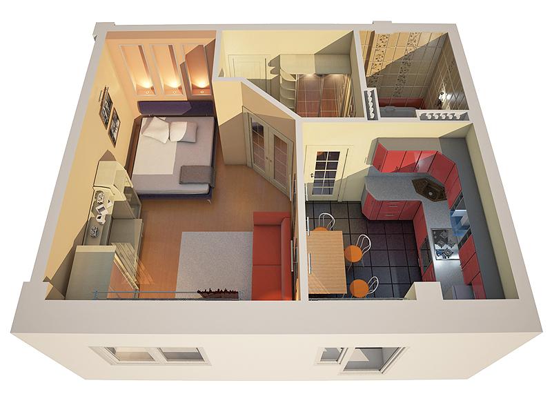 Как сделать планировку квартир однокомнатных квартир