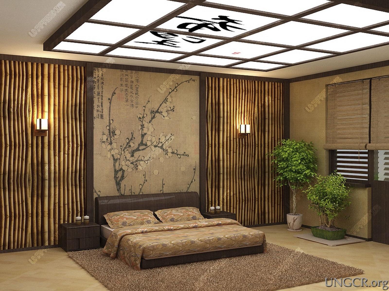 Потолок в японском стиле своими руками