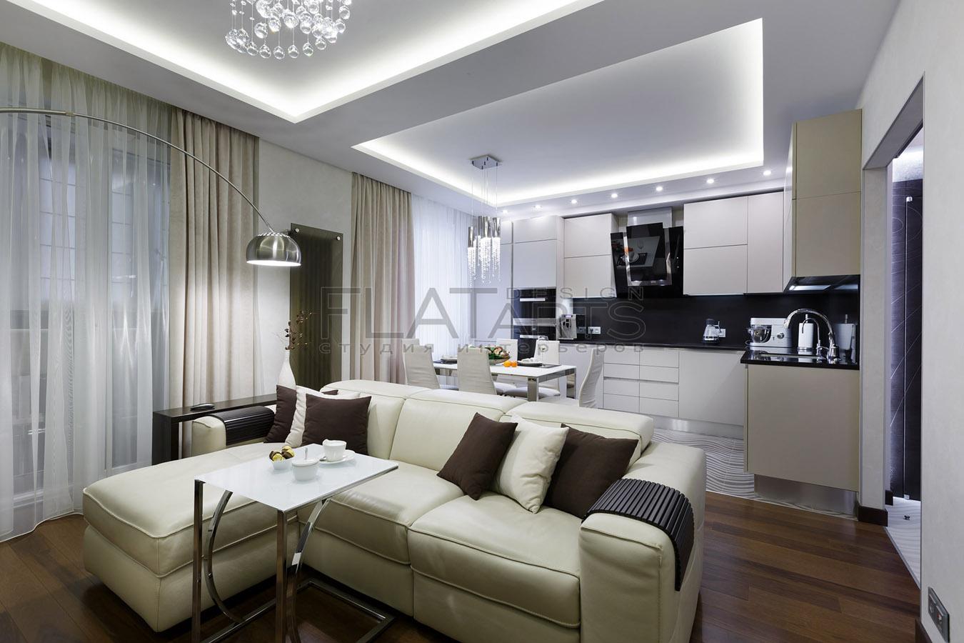 Дизайн кухни гостиной 40 кв м