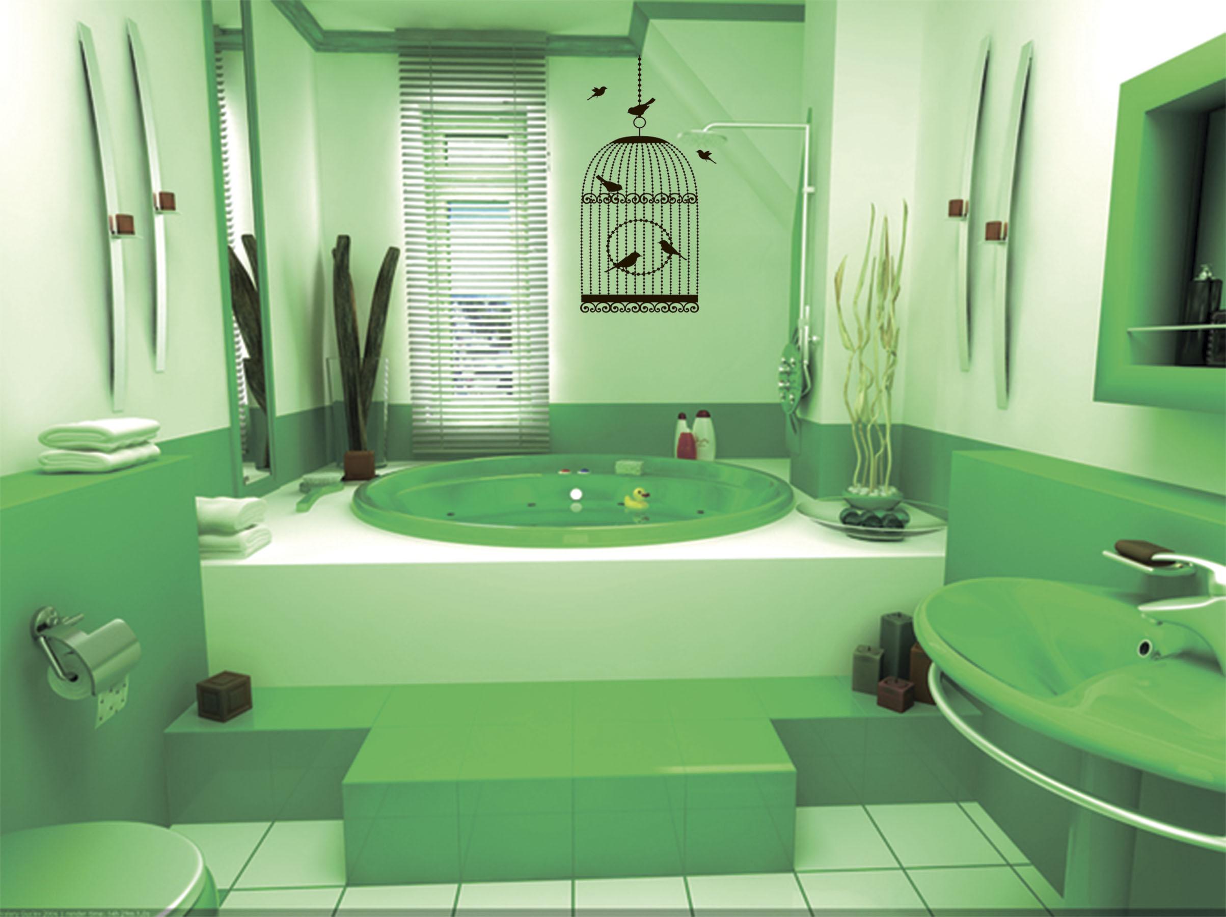 Зеленая ванная комната  № 2278640 без смс