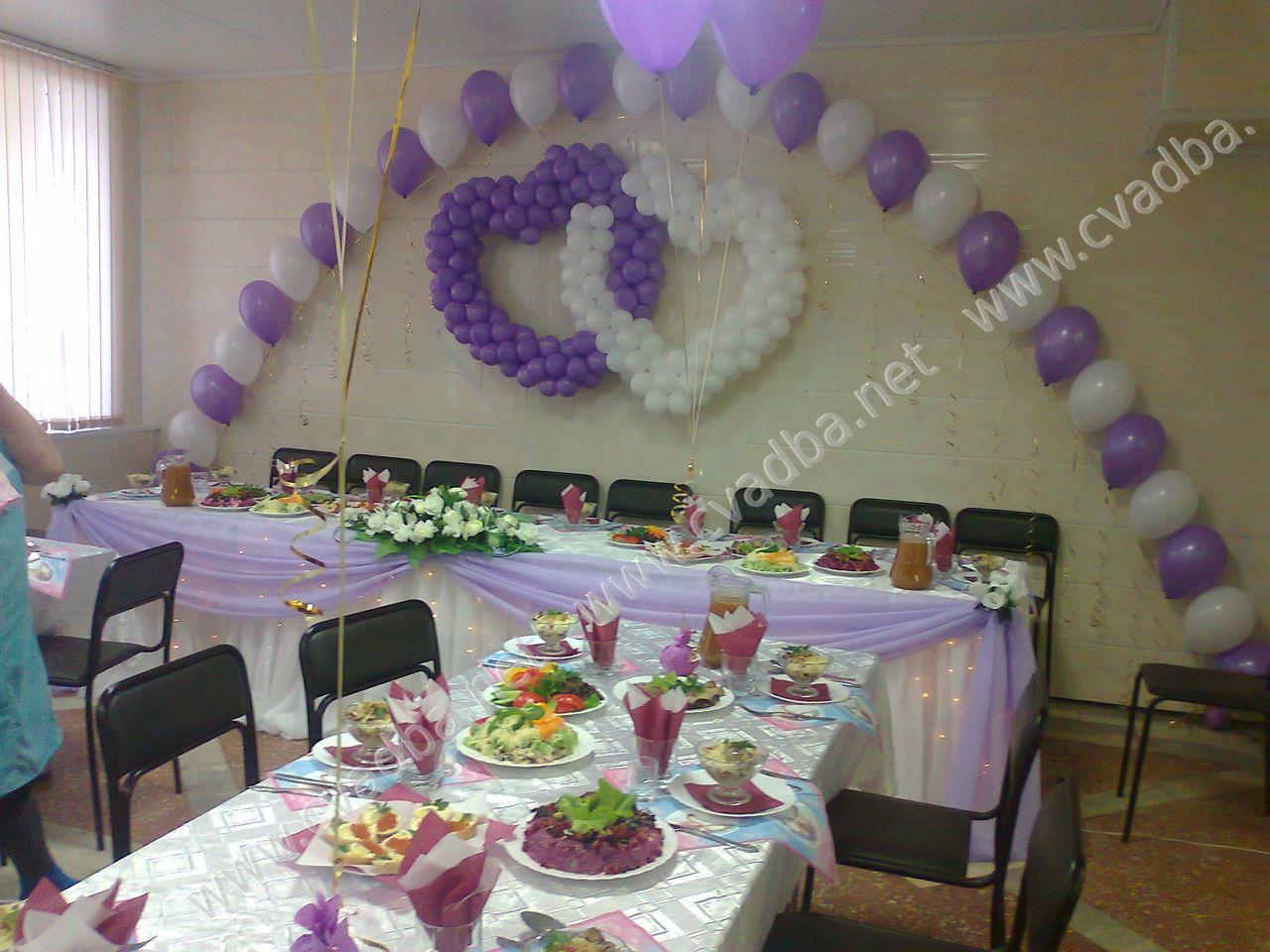 Фото украшение зала на свадьбу своими руками