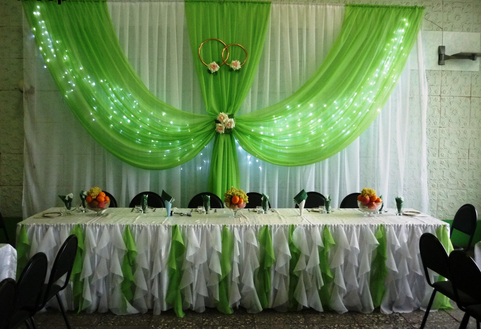 Оформление зала свадебного своими руками