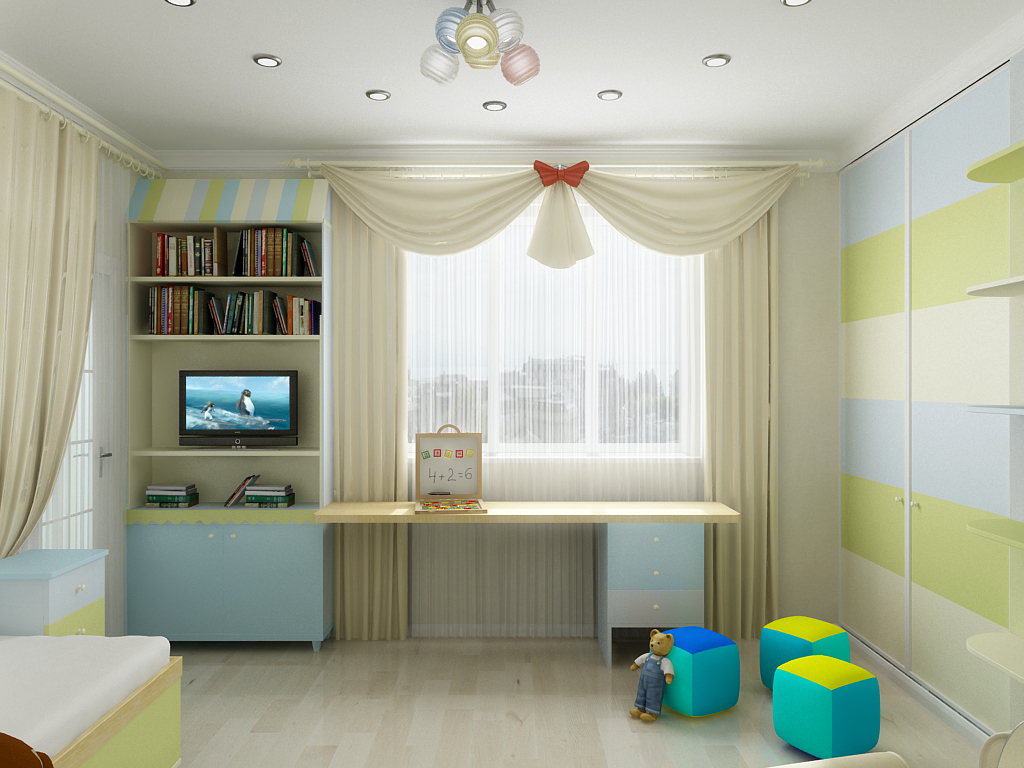 Дизайн в детской комнате.