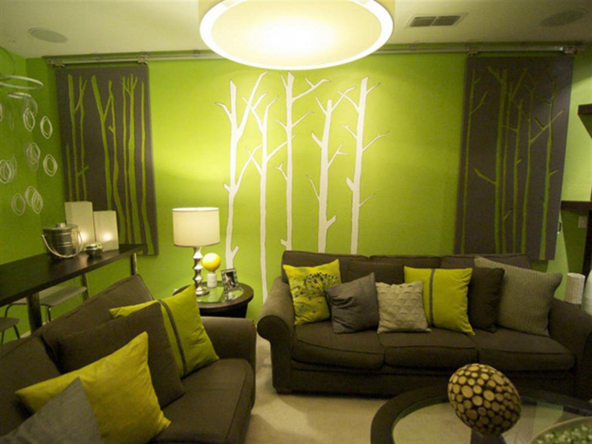 Интерьеры квартир зеленого цвета фото