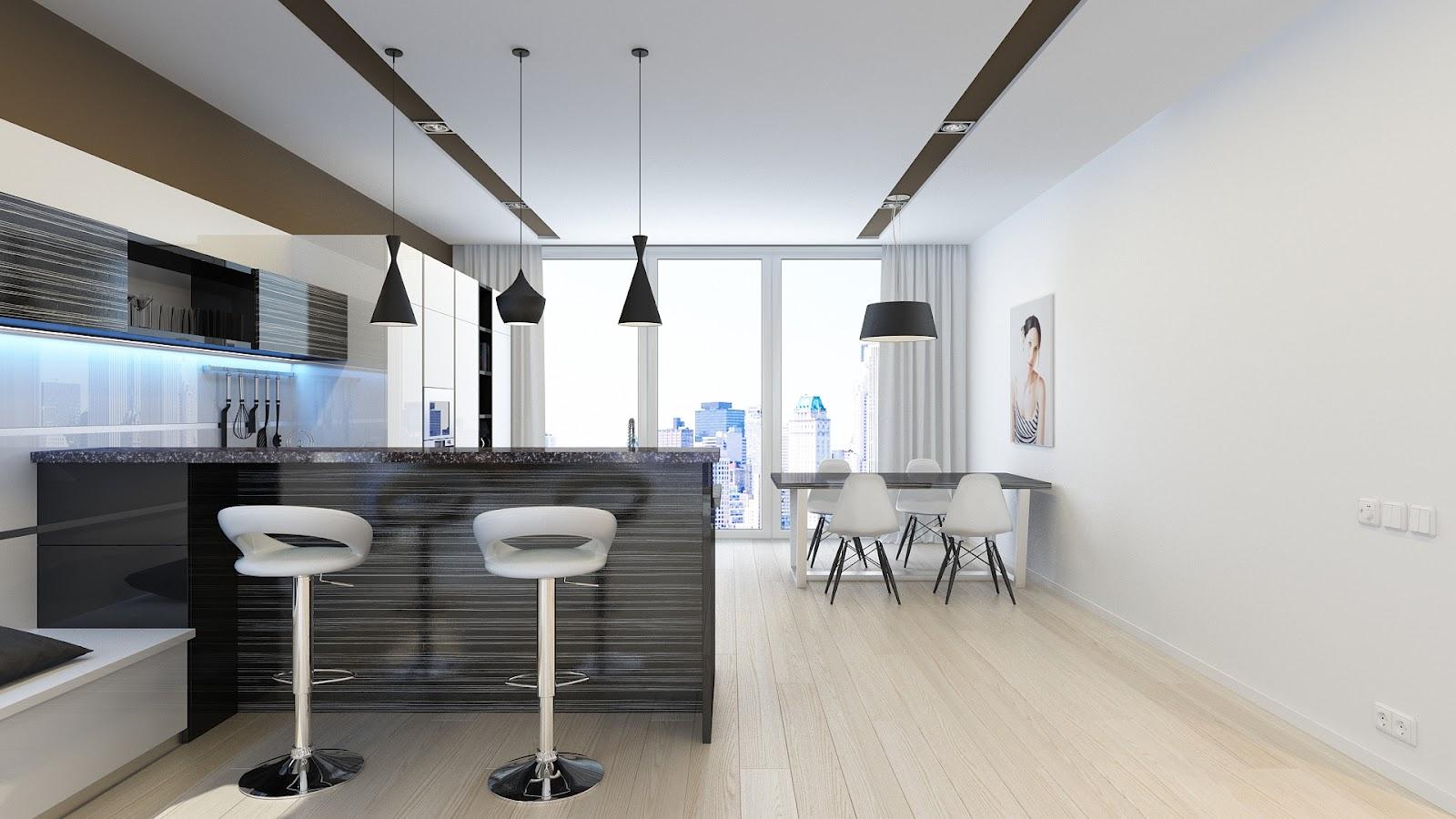 Квартира студия минимализм дизайн