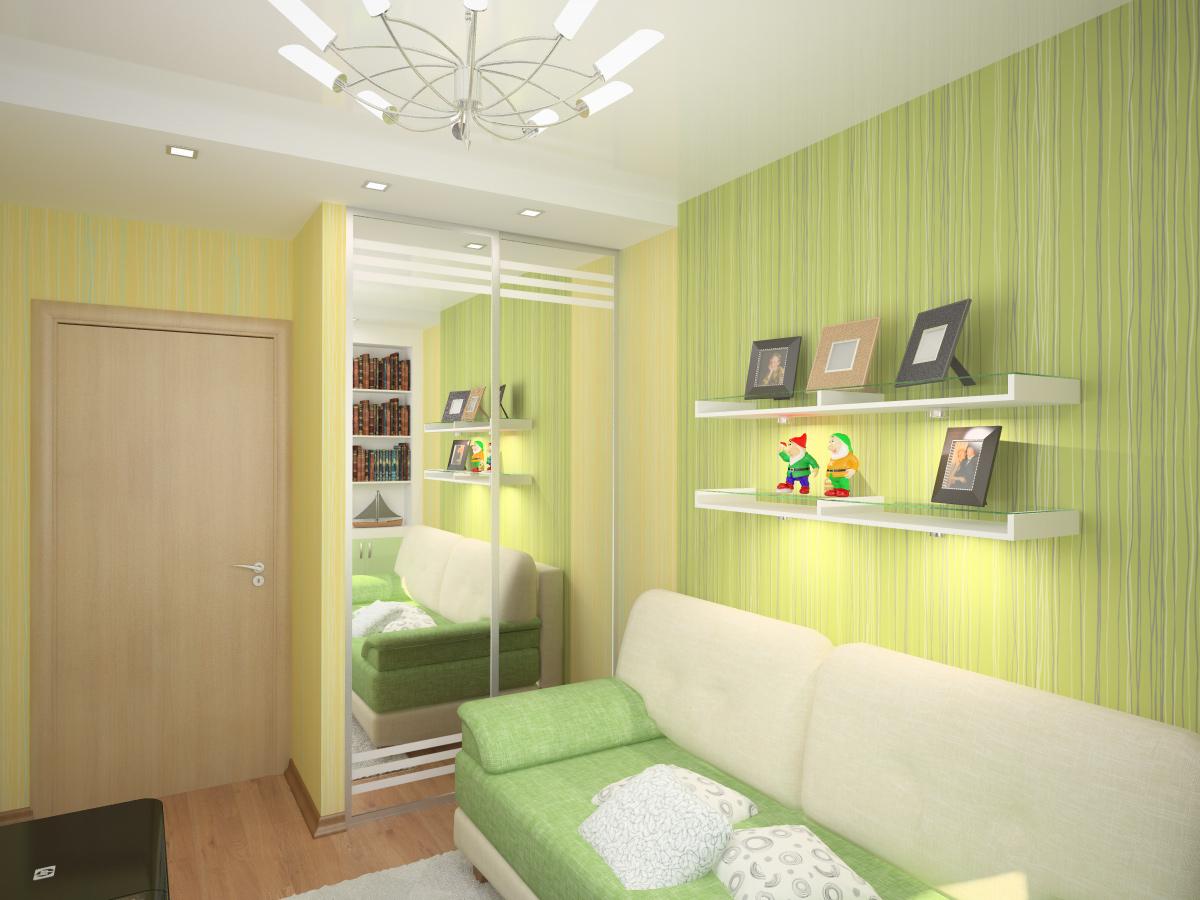 Дизайн комнаты 9м