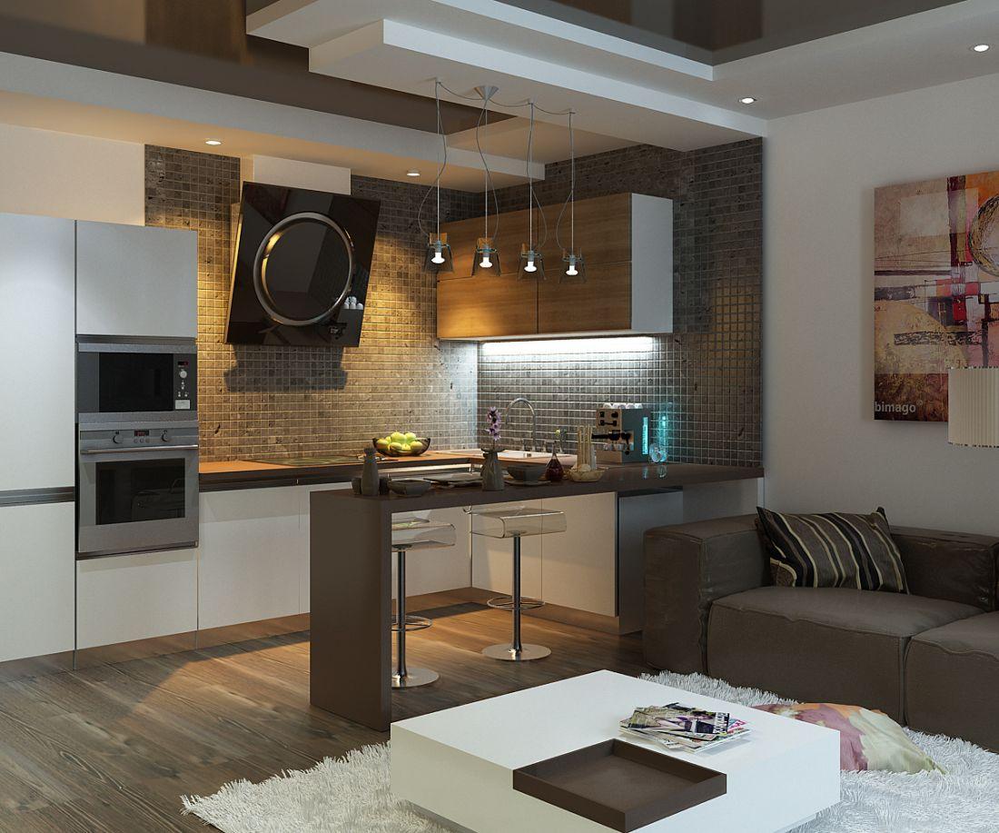 интерьер кухни-гостиной 20 м кв фото