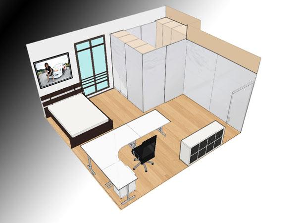 Спроектировать комнаты самостоятельно
