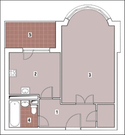 Дизайн квартиры дома серии и-155