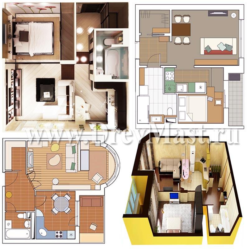 Как из однокомнатной квартиры сделать двухкомнатную фото-дизайны