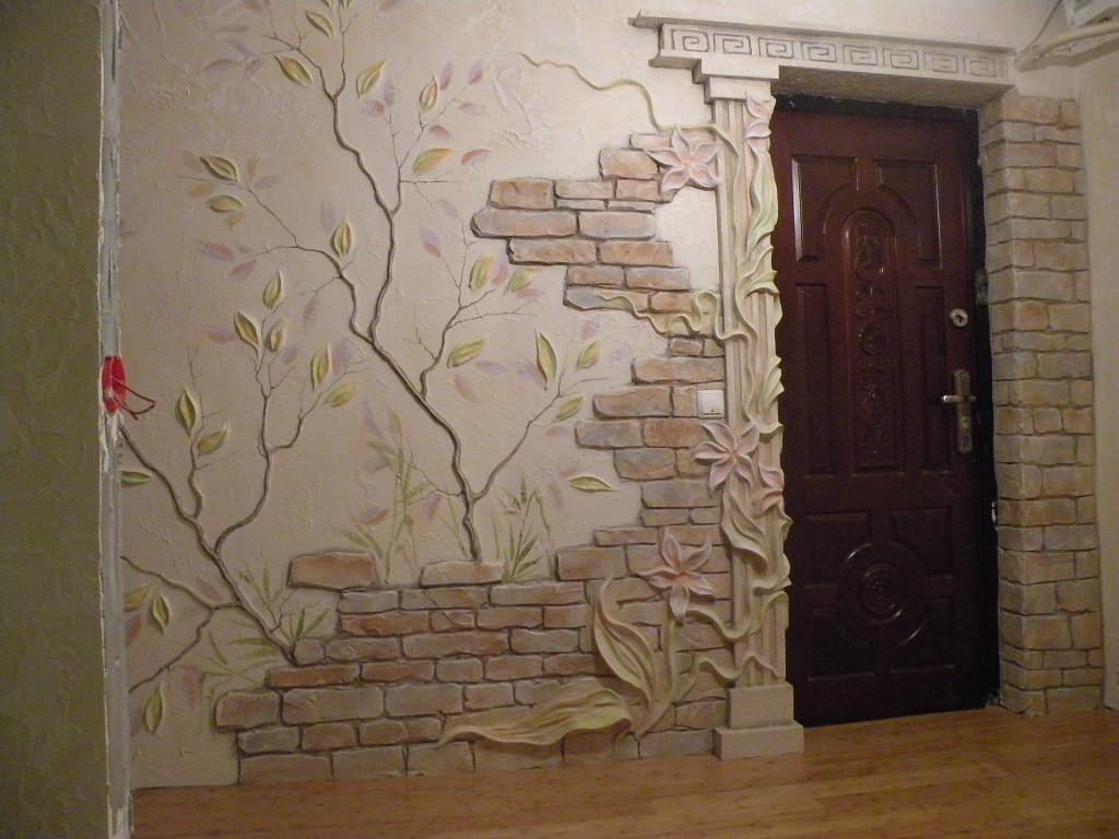 Декор стены дома своими руками