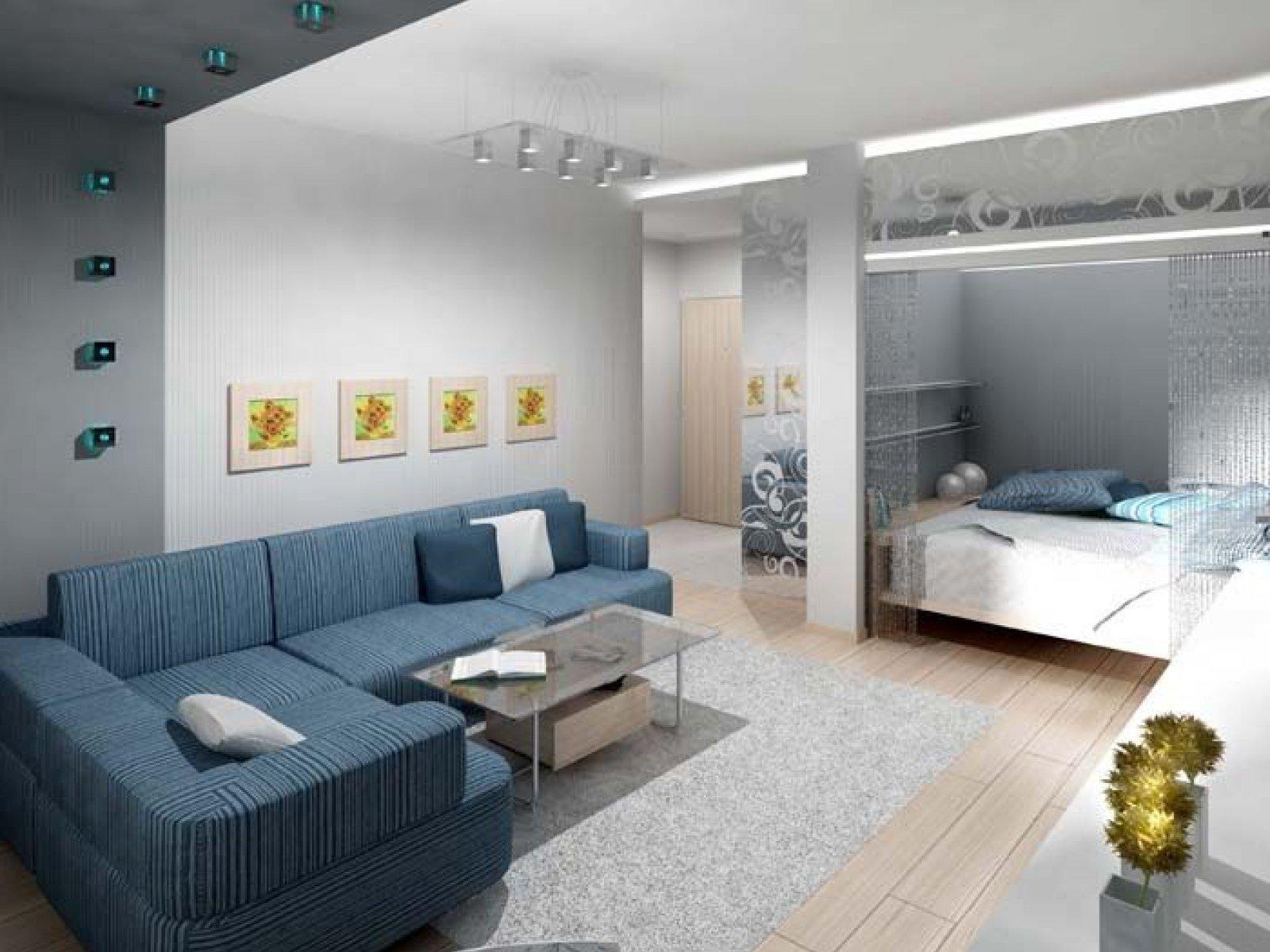 1 комнатная квартира с нишей дизайн