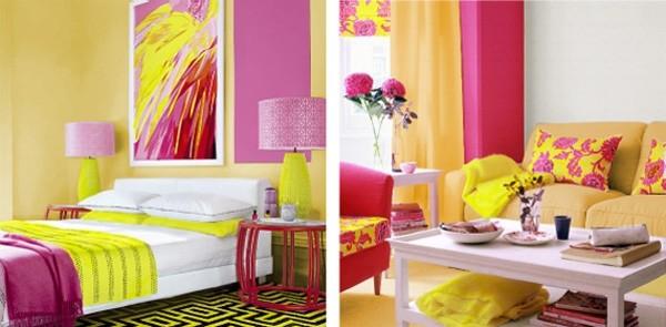 Желтый цвет сочетание с другими цветами в интерьере