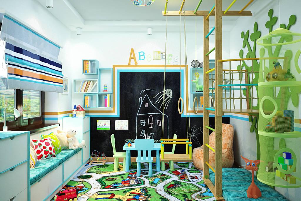 Фото дизайна игровой для детей