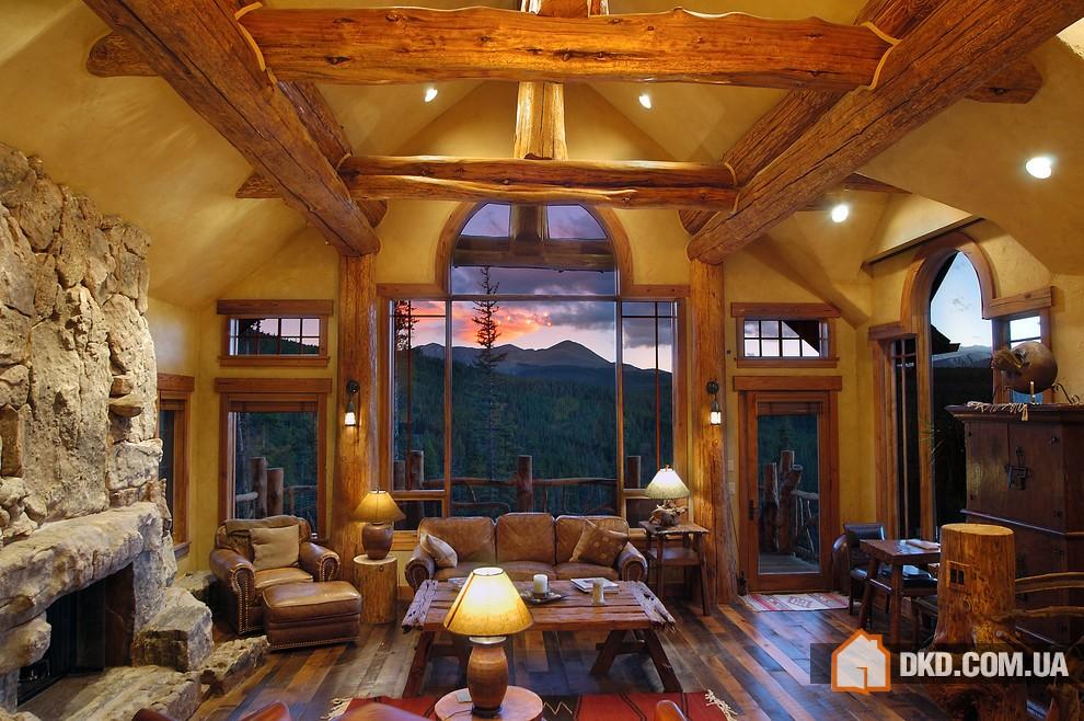 Красивые деревянные дома фото интерьер внутренний