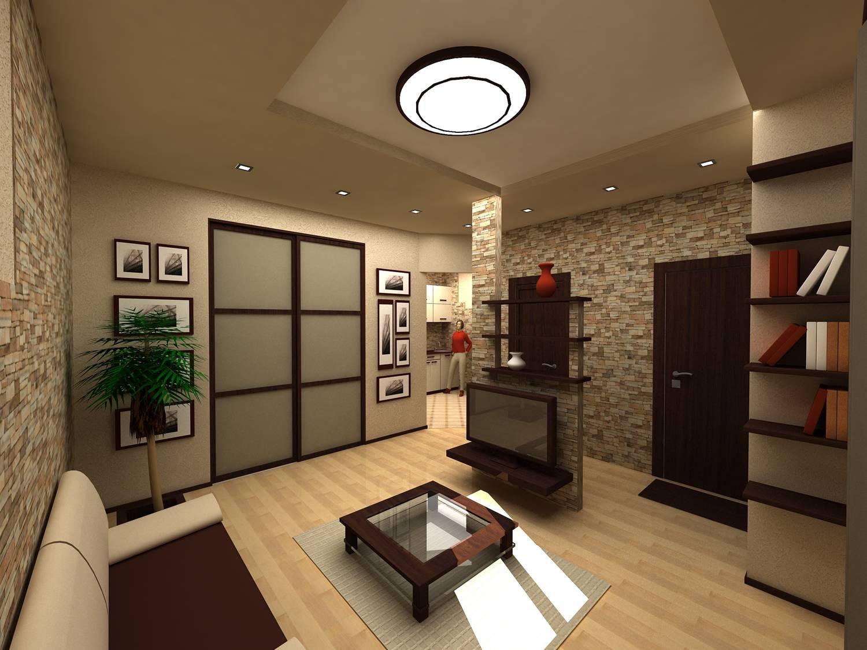 Прихожая гостиная кухня дизайн