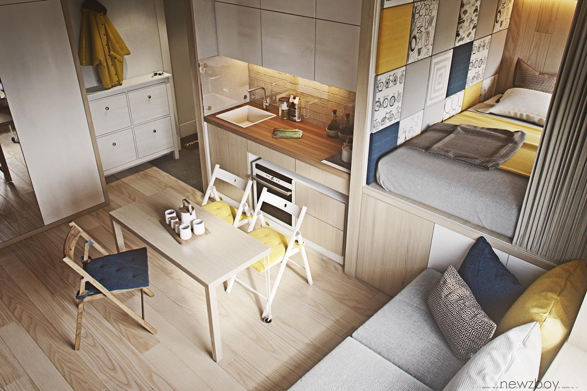 Дизайн однокомнатной квартиры маленькой площади
