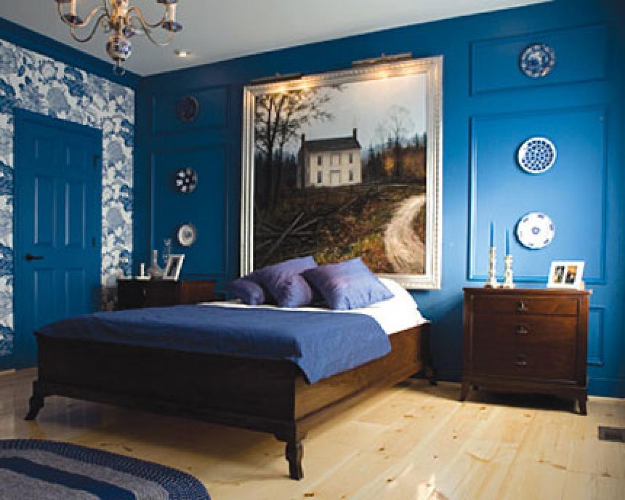 135Спальня дизайн синий