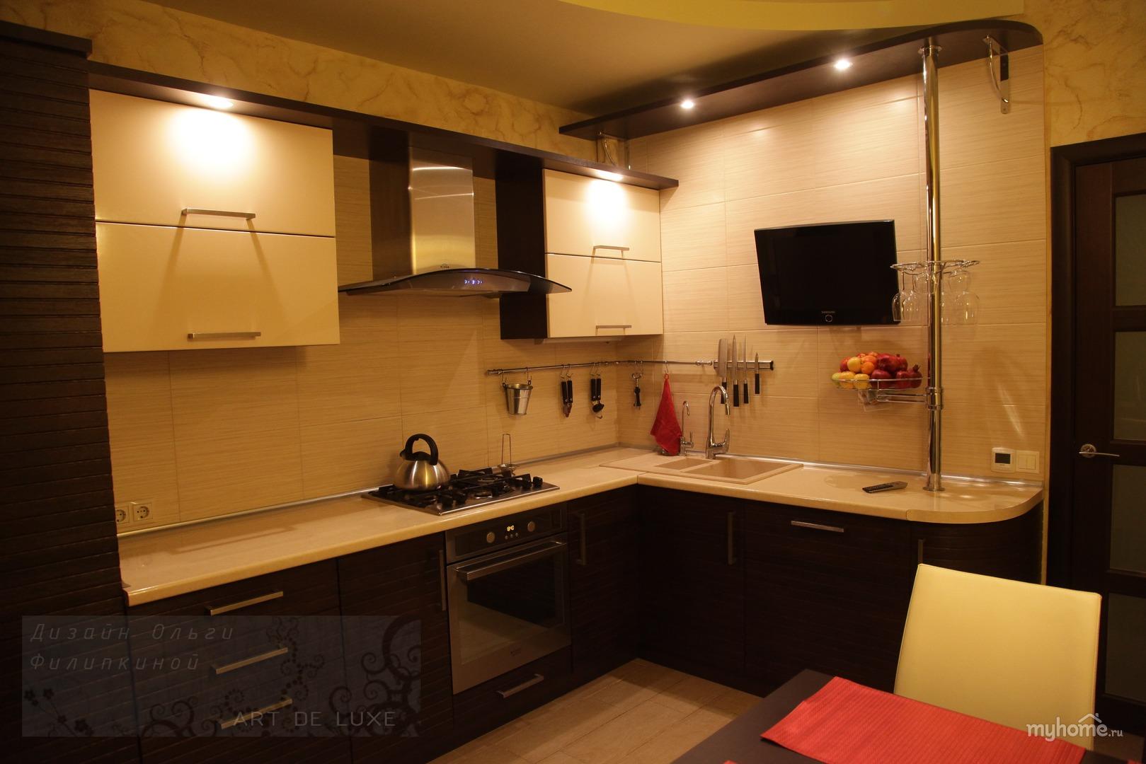 Дизайн кухни двухкомнатных квартир фото