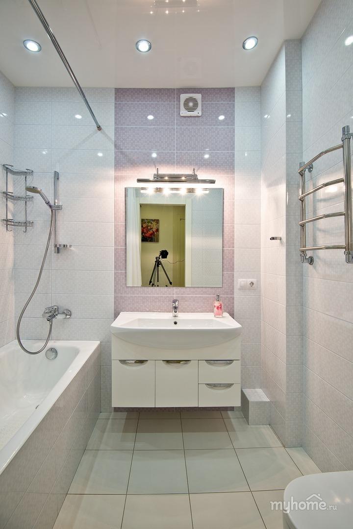 Дизайн ванной комнаты в светлых тонах в хрущевке