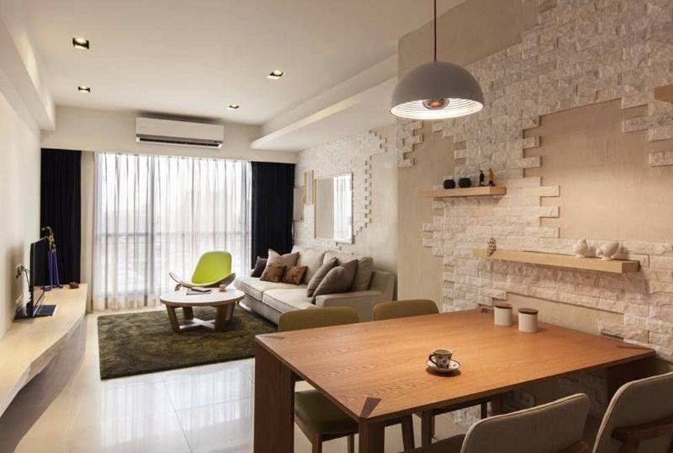 Дизайн зала вытянутой формы