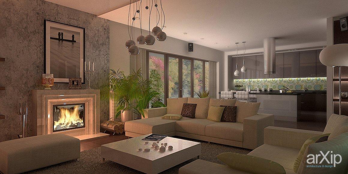 Дизайн интерьера кухни гостиной в коттеджах