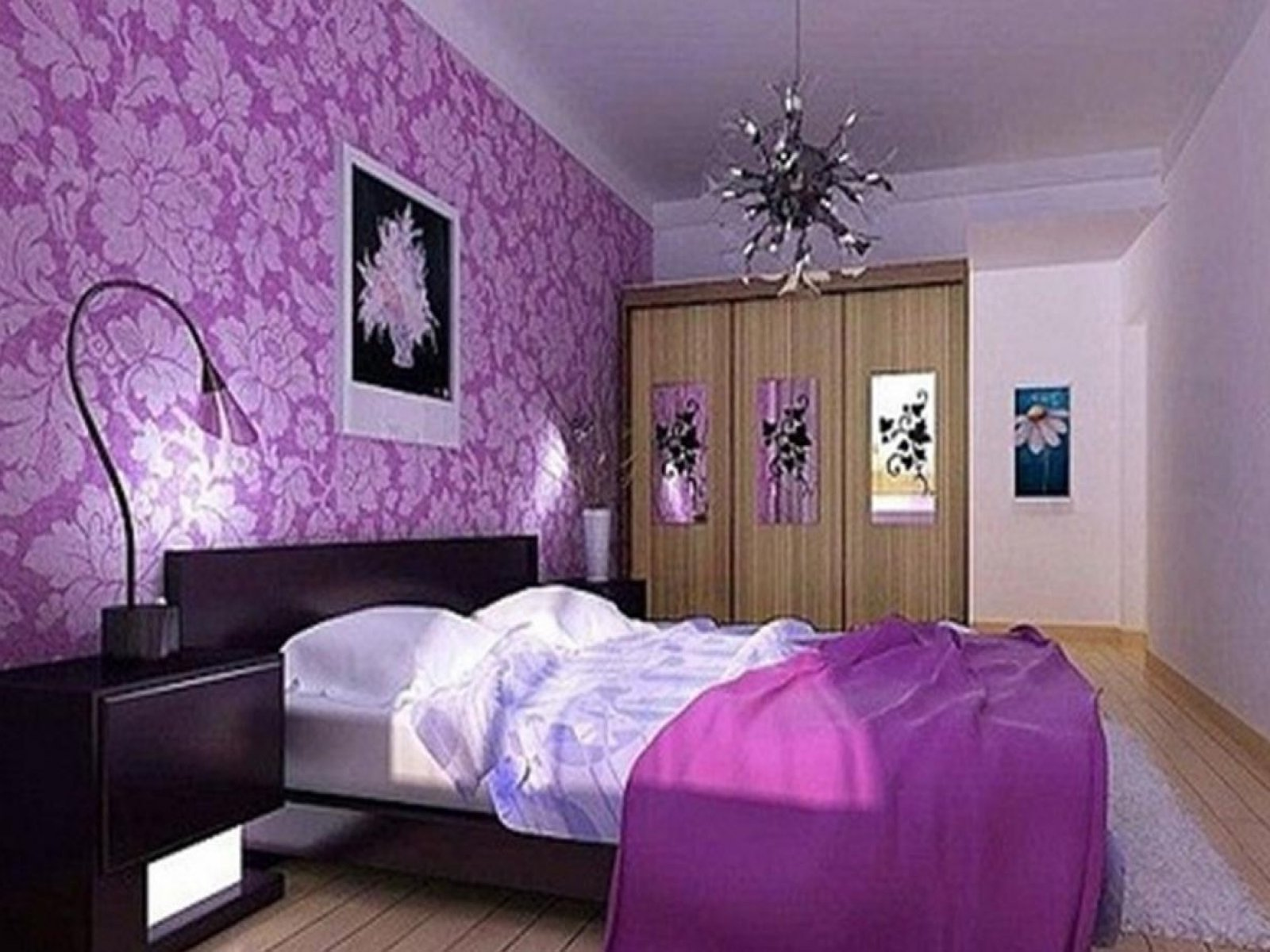 Фото дизайн сиреневые комнаты
