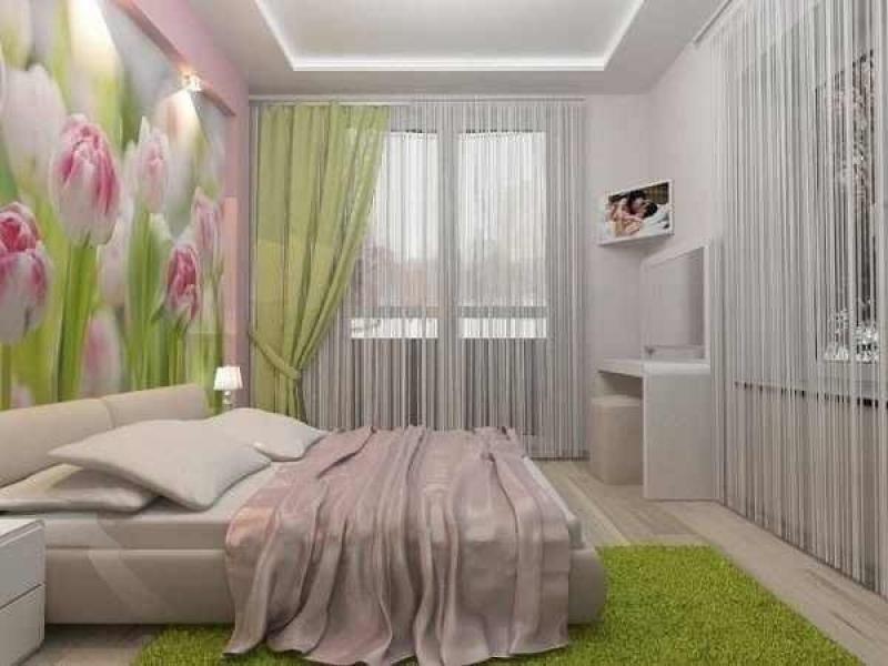 """Фото штор для маленькой спальни """" Картинки и фотографии дизайна квартир, домов, коттеджей"""
