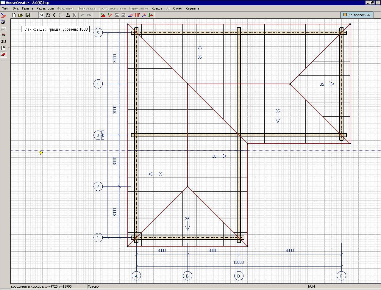 Как сделать четырехскатную крышу схема