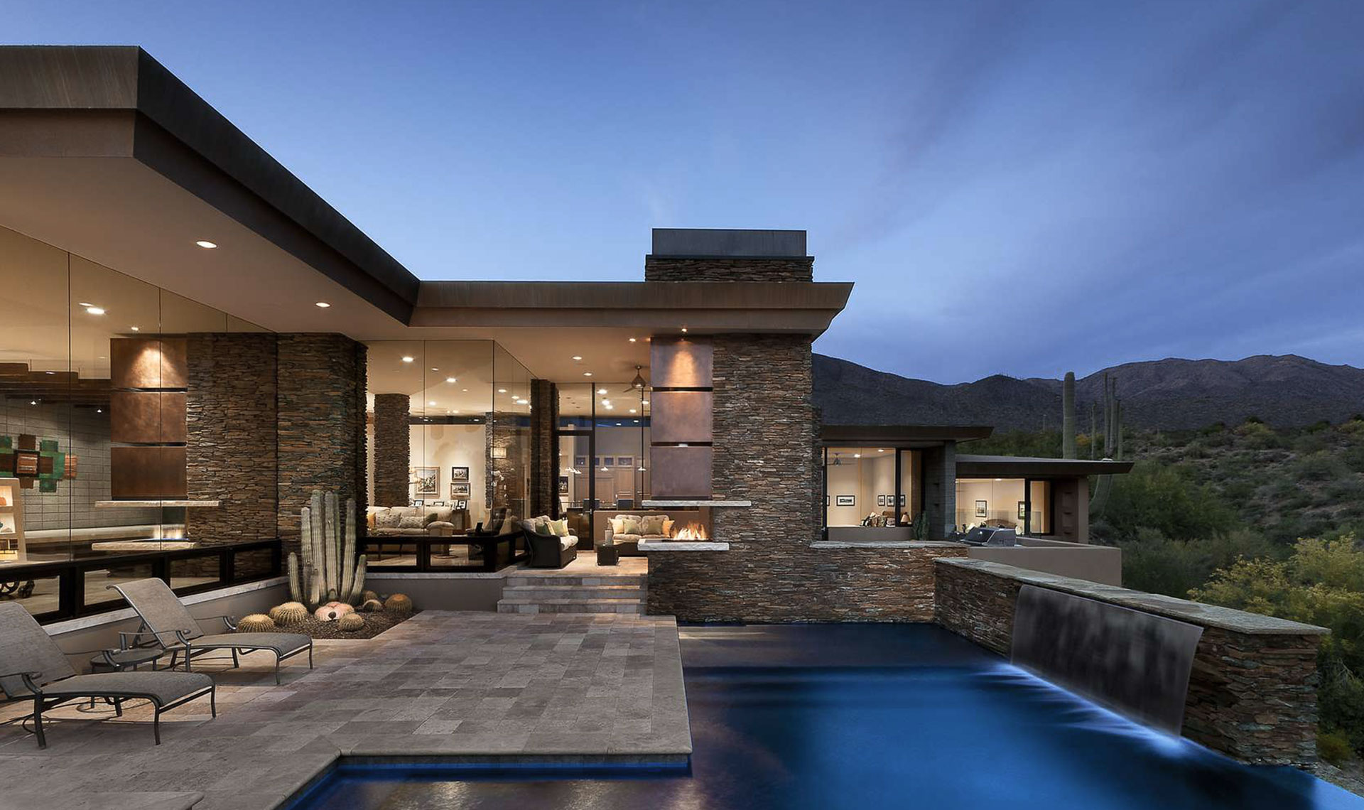 Дизайн современного дома снаружи и внутри