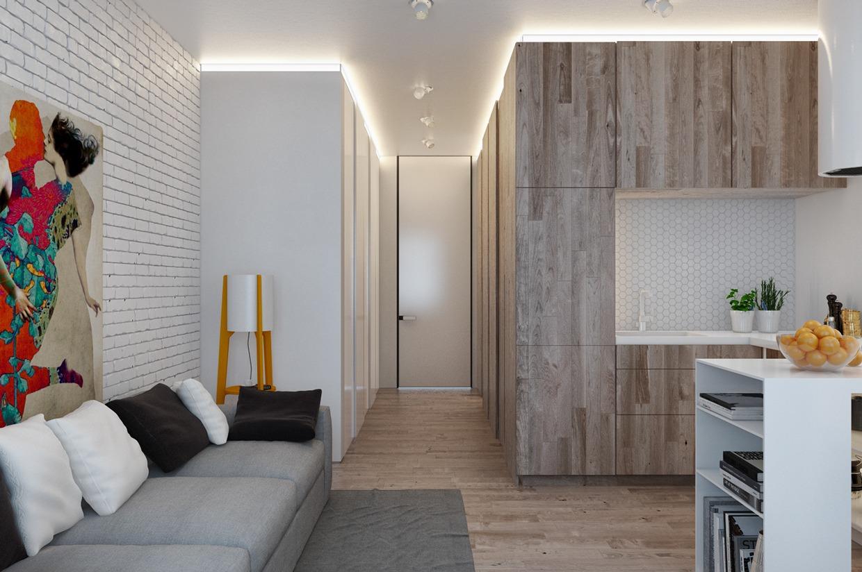 Ремонт в однокомнатной квартире 26 квм