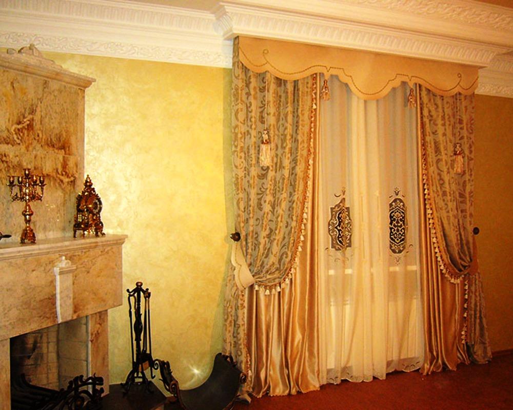 Дизайн штор в гостинной