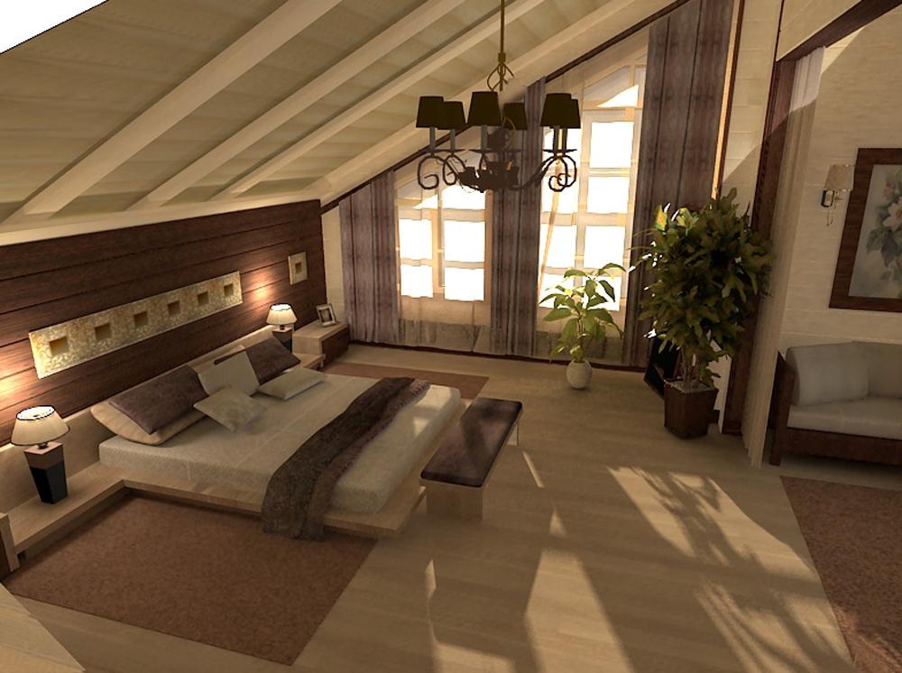 Интерьер загородных домов спальни фото