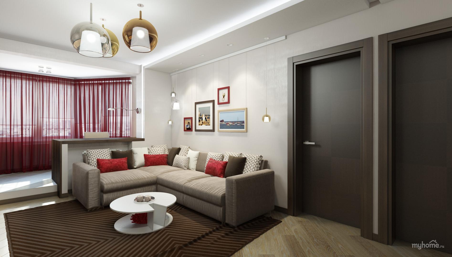 Дизайн 3-х комнатной квартиры в п44т с