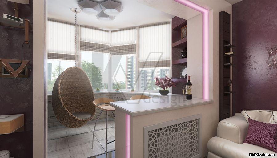 Дизайн интерьера трехкомнатной квартиры п-44т, пример проект.