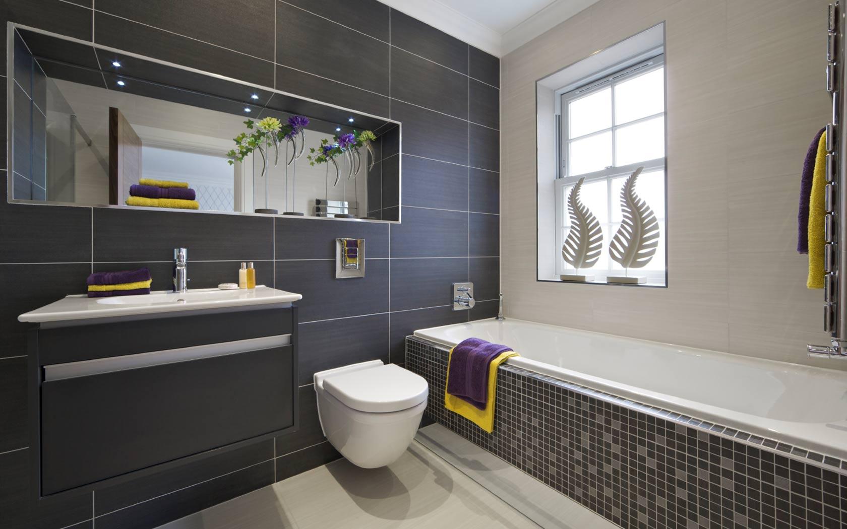 Ванная комната серая дизайн