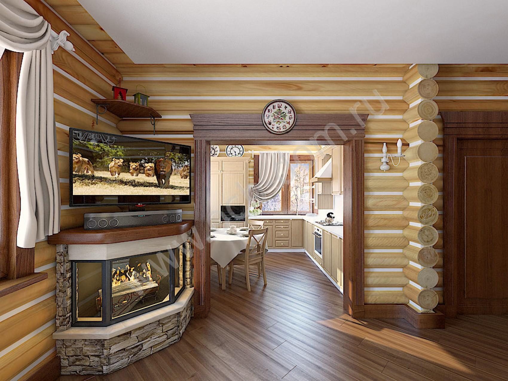 Фото домов из оцилиндрованного бревна внутри 135