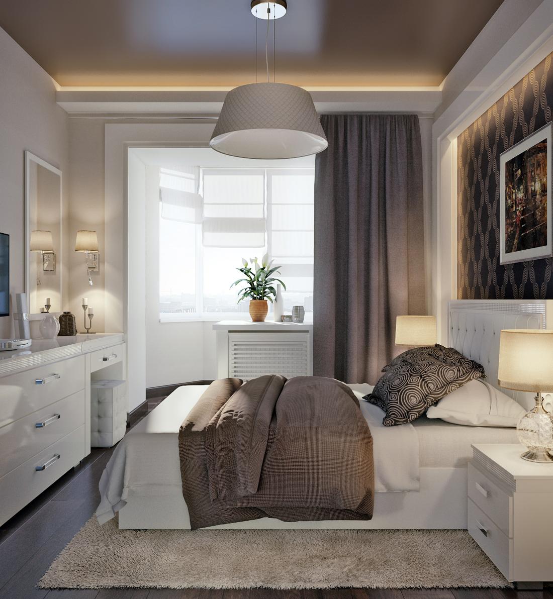 Дизайн спальни с балконом в панельном доме