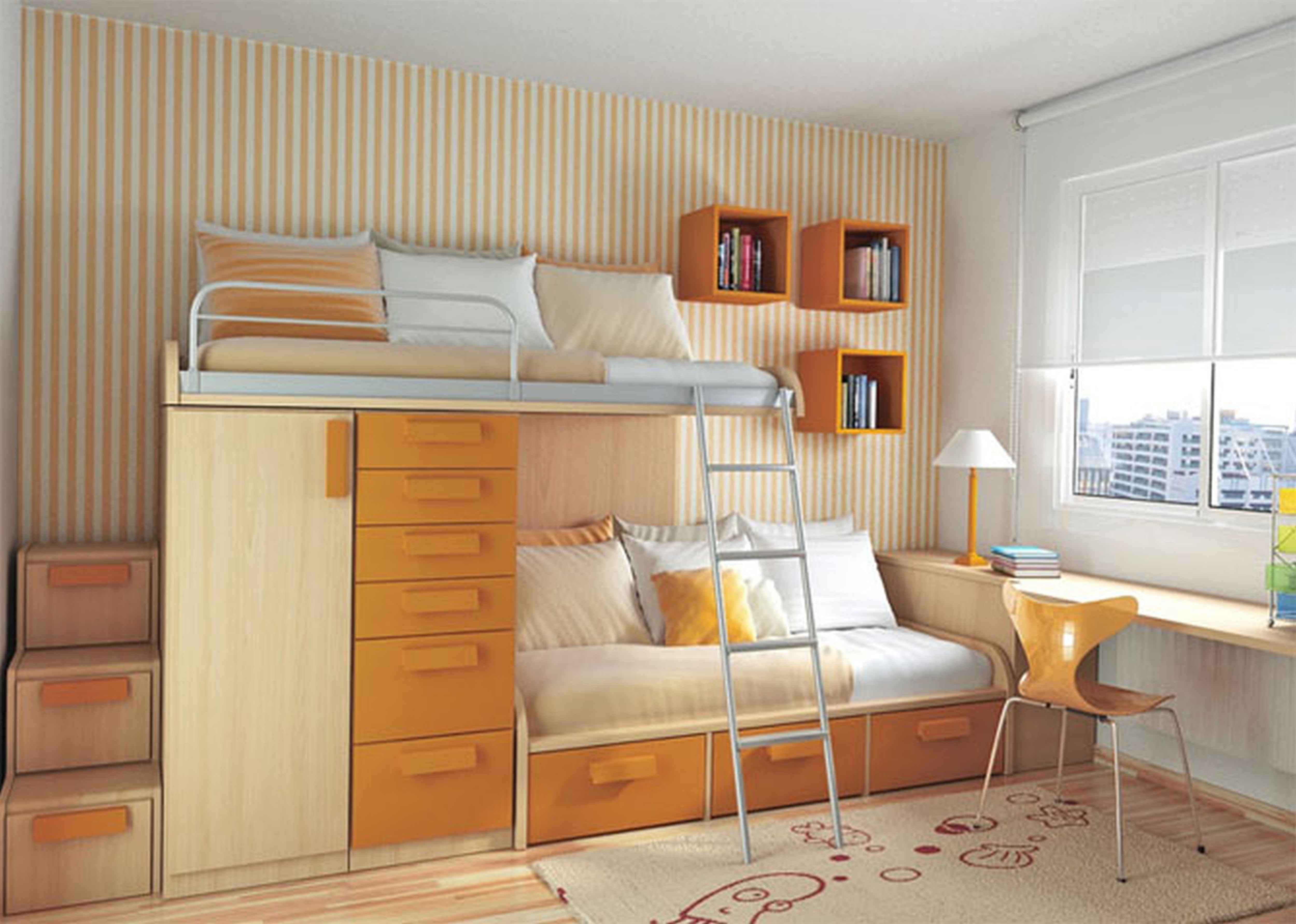Дизайн маленькой комнаты для двоих
