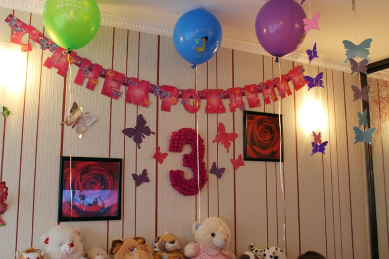 Как украсить комнату для дня рождения девочки  108