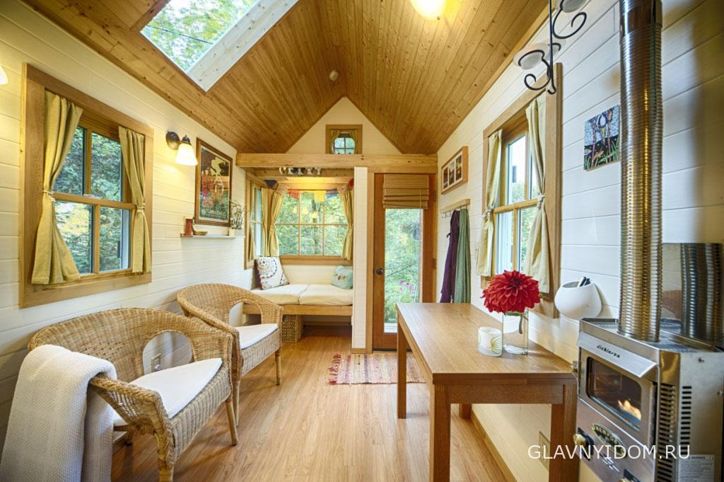 Дизайн маленьких дачных домов внутри