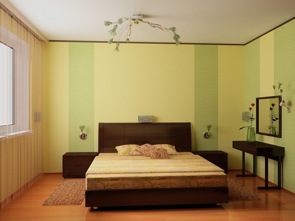 Фото ремонт спальни собоями
