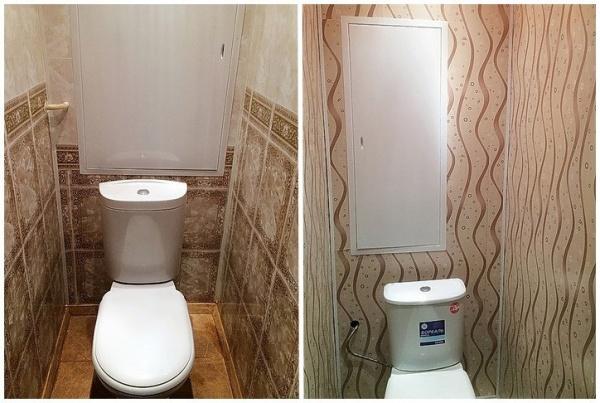Туалет обшить пластиковыми панелями дизайн