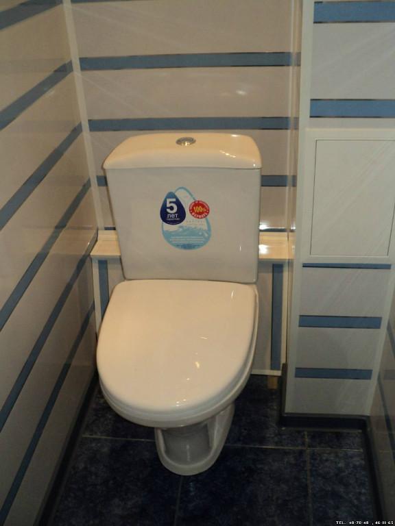 Как сделать из пластиковых панелей туалет